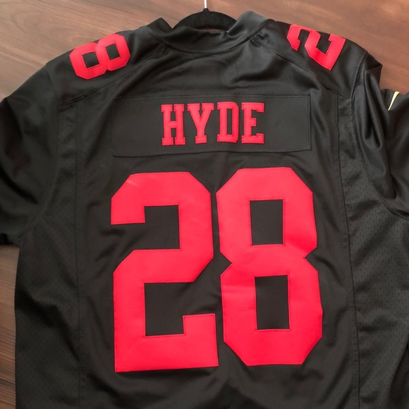 the latest 9ff22 a001f Carlos Hyde Black Color Rush Limited 49ers Jersey